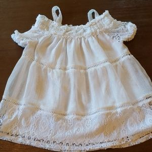 White dress top for girls size 6x